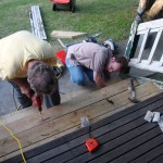 Alan and Grandpa securing the steps