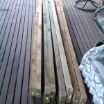 The wood was bought the weekend before